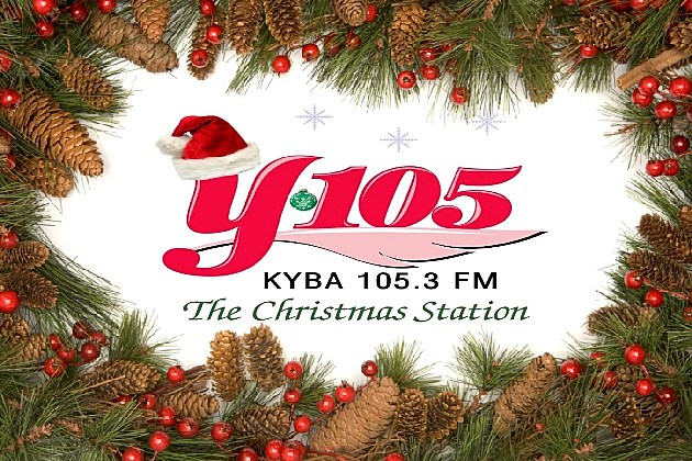 Christmas wreath Y105 logo