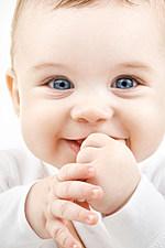 bright closeup potrait of adorable baby