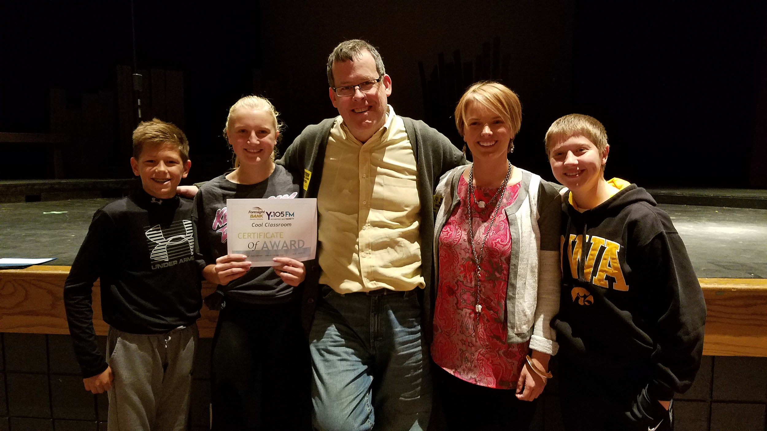 Byron Middle School Eighth Graders' Cool Classroom Award, Townsquare Media